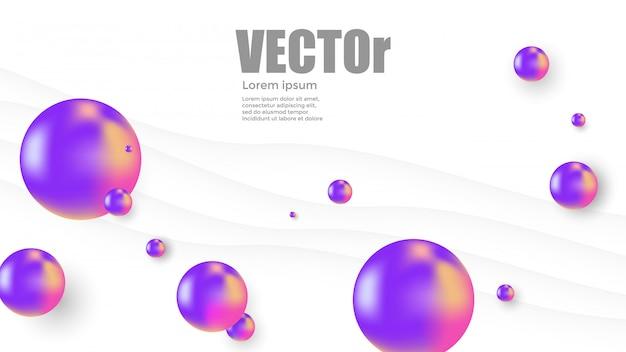 Abstrait boule violette