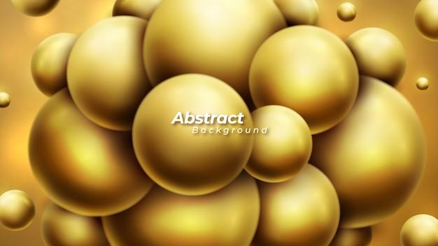 Abstrait avec des boules 3d dynamiques.