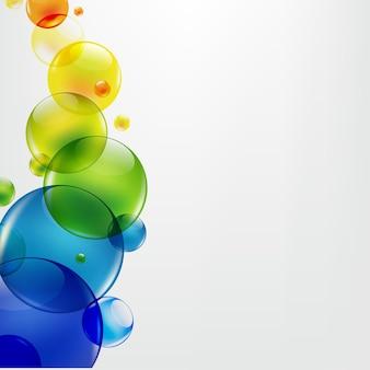 Abstrait avec des boules colorées,