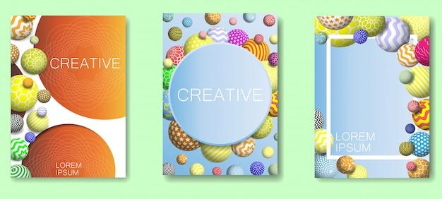 Abstrait avec des boules décoratives multicolores.
