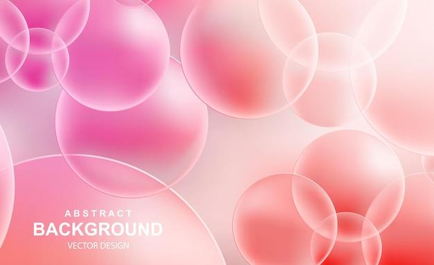 Abstrait avec des boules réalistes tombant des bulles brillantes volantes dynamiques
