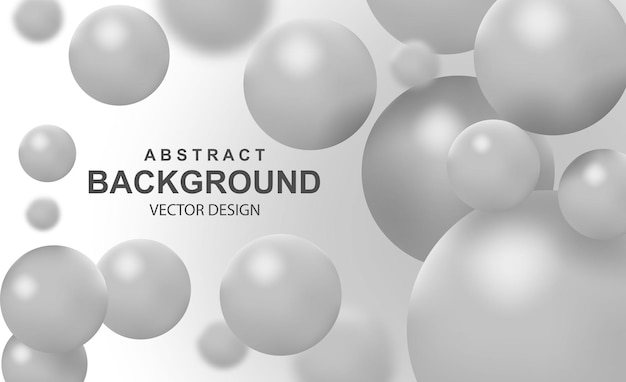 Abstrait avec des boules réalistes tombant des bulles colorées volantes dynamiques