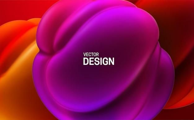Abstrait avec des bulles pressées violettes et rouges