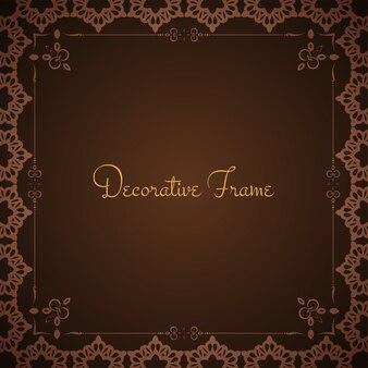 Abstrait cadre design vecteur fond marron