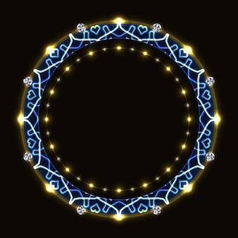 Abstrait cadre rond avec motif