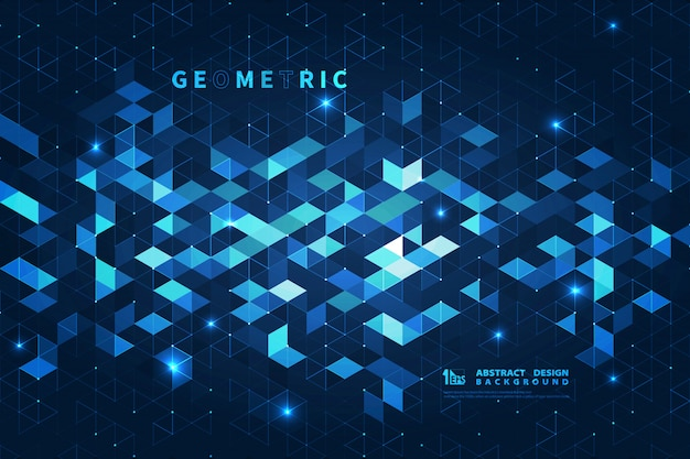 Abstrait carré bleu futuriste.
