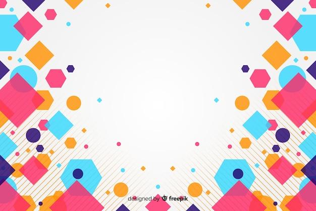 Abstrait avec des carrés colorés