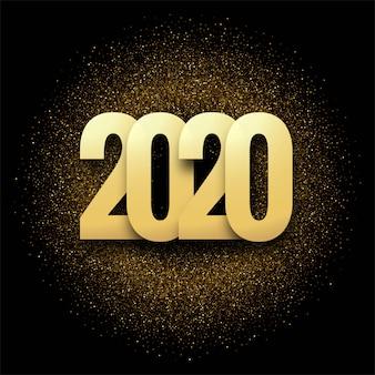 Abstrait de carte de voeux de nouvel an 2020