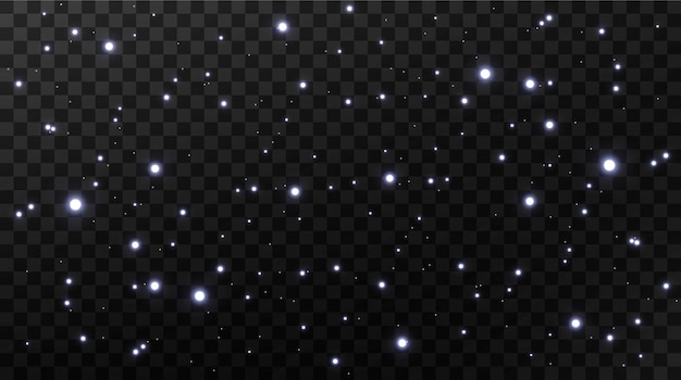 Abstrait de célébration de petites particules de poussière scintillantes et étoiles
