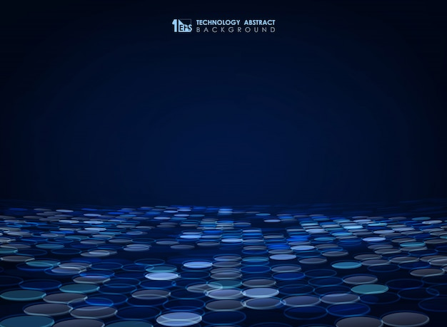 Abstrait de cercle bleu