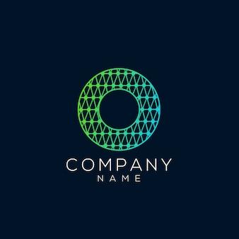 Abstrait cercle et lettre o logo