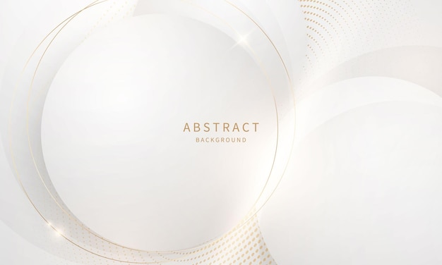 Abstrait cercle moderne arts fond luxe or blanc moderne