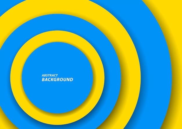 Abstrait de cercles bleus et jaunes