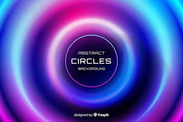 Abstrait de cercles colorés