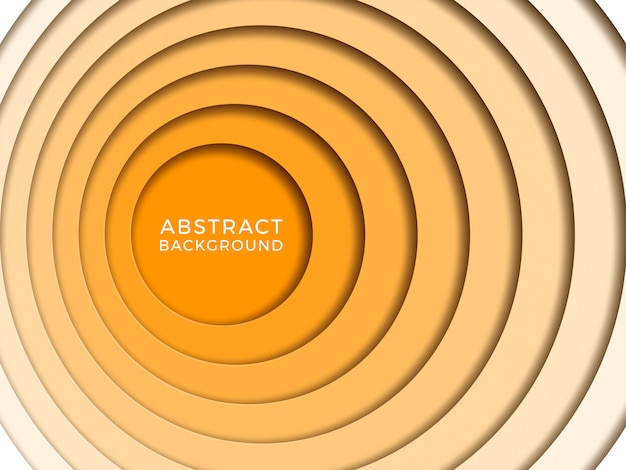 Abstrait avec des cercles papercut