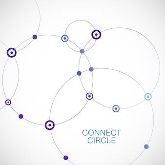 Abstrait avec des cercles et des points