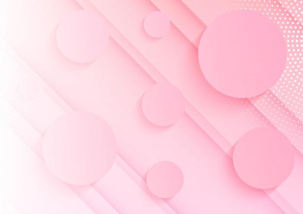 Abstrait de cercles roses
