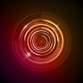 Abstrait de cercles rouges numériques.