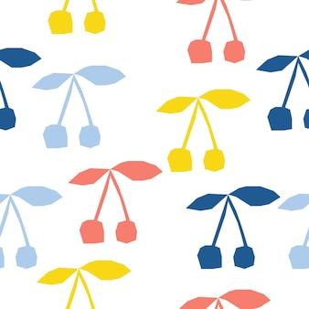 Abstrait cerise transparente. artisanat enfantin fait à la main pour carte de conception, menu de café, papier peint, album cadeau d'été, scrapbooking, papier d'emballage de vacances, couche pour bébé, impression de sac, t-shirt, etc.