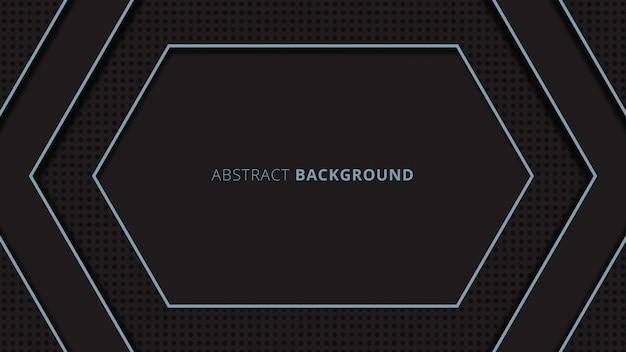 Abstrait chevauchement géométrique forme ronde fond avec thème noir