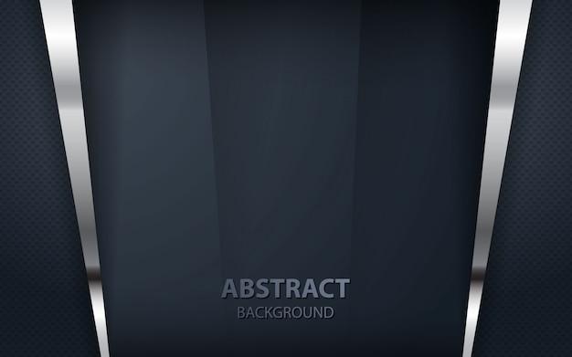Abstrait chevauchement noir