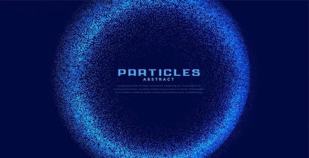 Abstrait circulaire de particules techno bleu