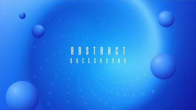 Abstrait circulaire avec des points et des bulles