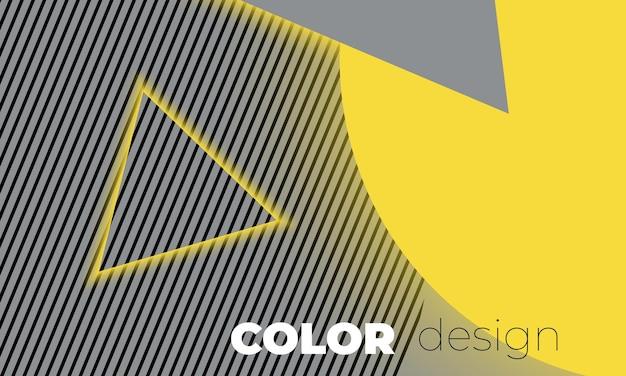 Abstrait clair et gris avec modèle de lettrage color design