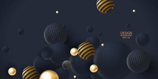Abstrait avec cluster de sphères 3d.