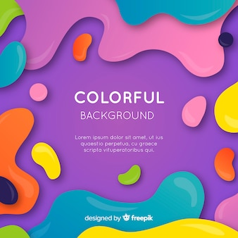 Abstrait coloré avec design plat