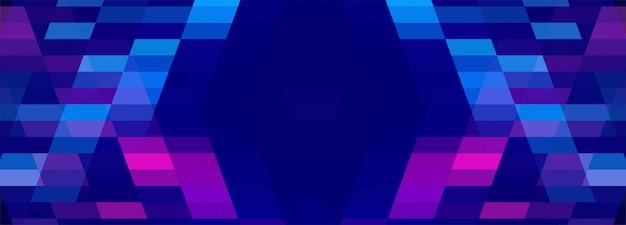 Abstrait coloré bannière géométrique