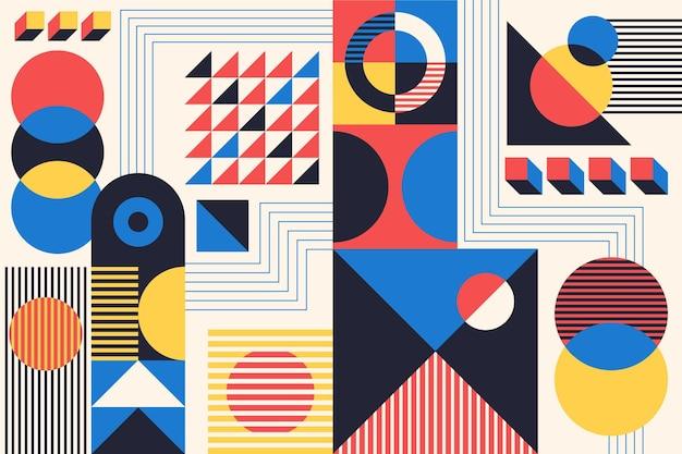 Abstrait coloré bauhaus