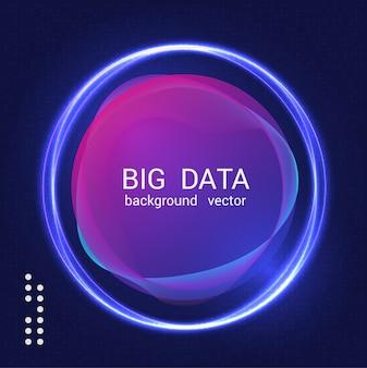 Abstrait coloré big data