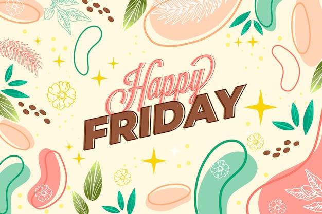 Abstrait coloré bonjour vendredi