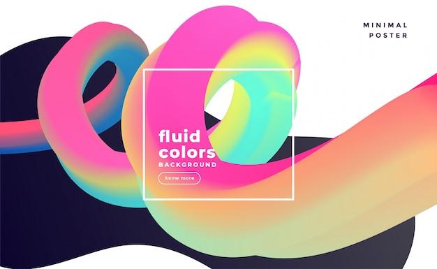 Abstrait coloré boucle fluide 3d