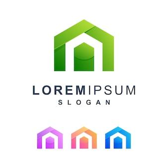 Abstrait coloré avec cachet a logo premium