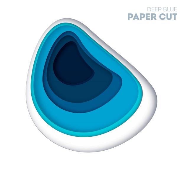 Abstrait coloré avec des couches de relief courbes de papier