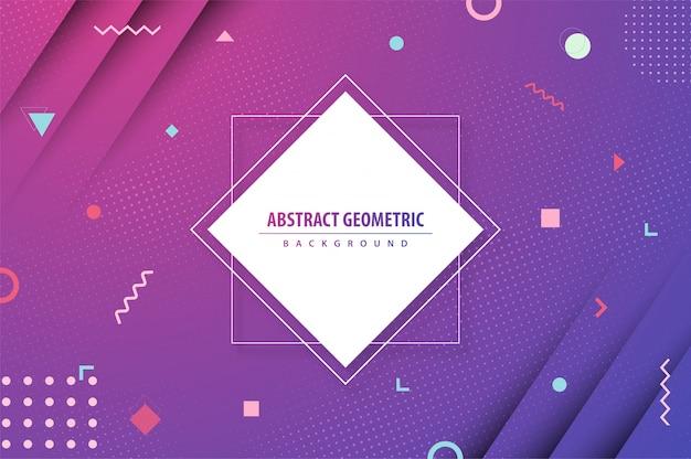 Abstrait coloré dégradé géométrique