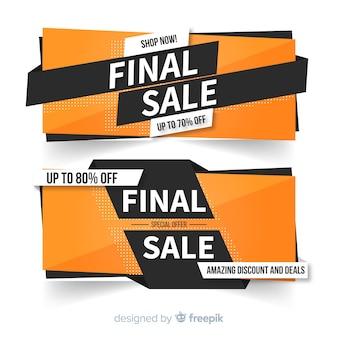 Abstrait coloré design de vente finale