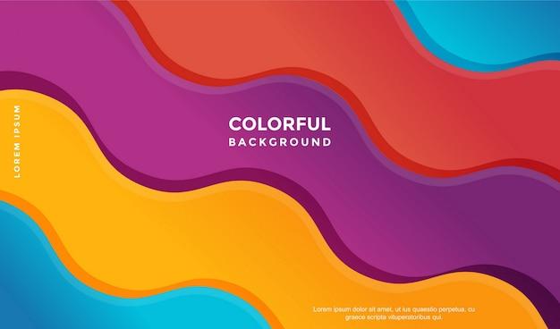 Abstrait coloré avec un design wave