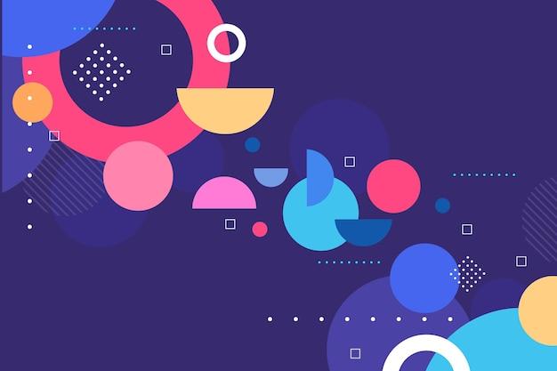 Abstrait coloré avec différentes formes