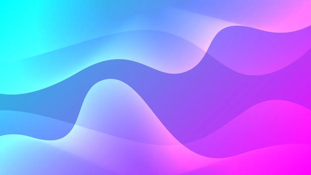 Abstrait coloré dynamique ondulé