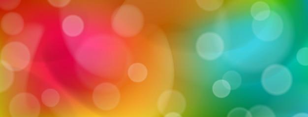 Abstrait coloré avec effets bokeh