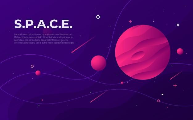 Abstrait coloré de l'espace extra-atmosphérique, conception, bannière, oeuvre