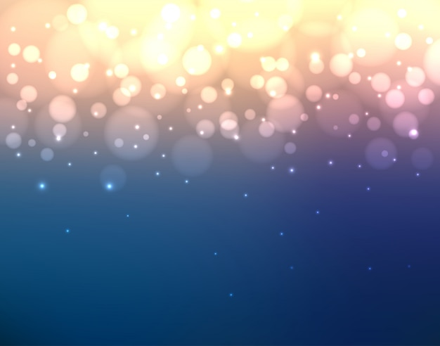 Abstrait coloré flou avec des lumières et bokeh
