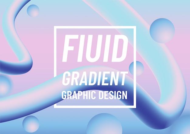 Abstrait coloré fluide dégradé
