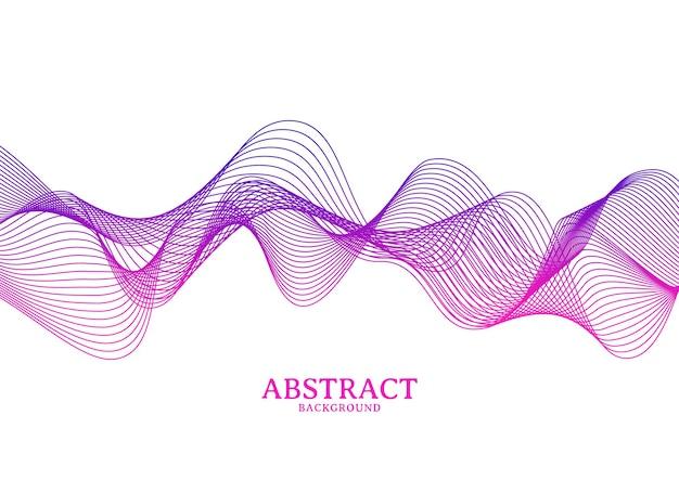 Abstrait coloré ligne ondulée qui coule, fond de ligne vague isolé sur fond blanc