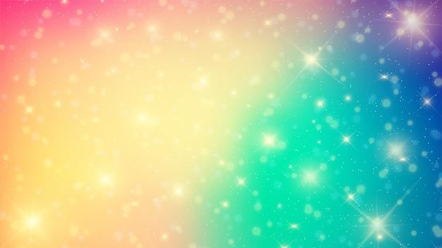 Abstrait coloré avec des lumières de bokeh.