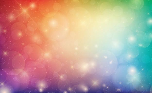 Abstrait coloré avec des lumières de bokeh