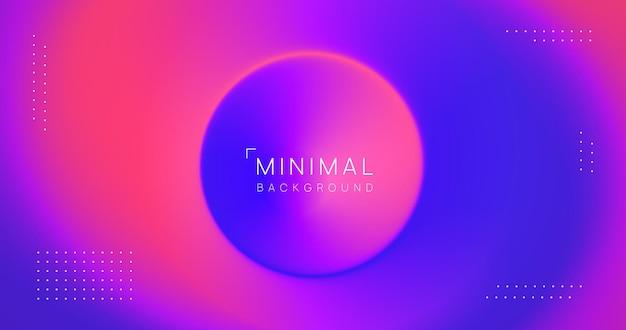 Abstrait coloré minimal. toile de fond moderne et fluide. conception de vecteur de dégradé radial cool.